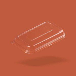raised transparent container lid